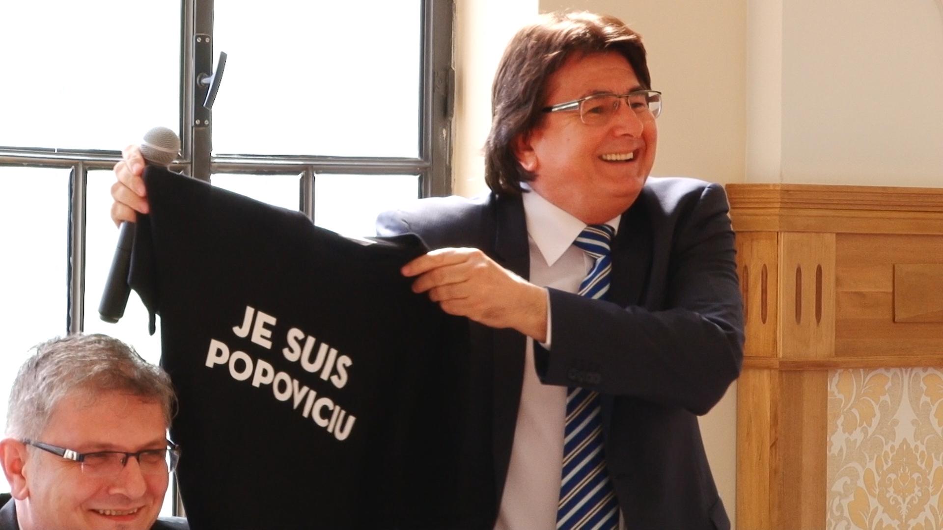 Primarul Robu şi consilierul Simonis, dispută pe… anchetatul Popoviciu.Still013