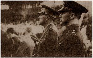 Henri Rang (stânga) alături de Felix Țopescu