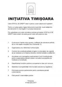 Noua Proclamatie de la Timisoara