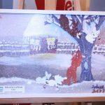 Tablouri de iarnă realizate de copii expuse la Biblioteca Județeană de la Bastion (7)